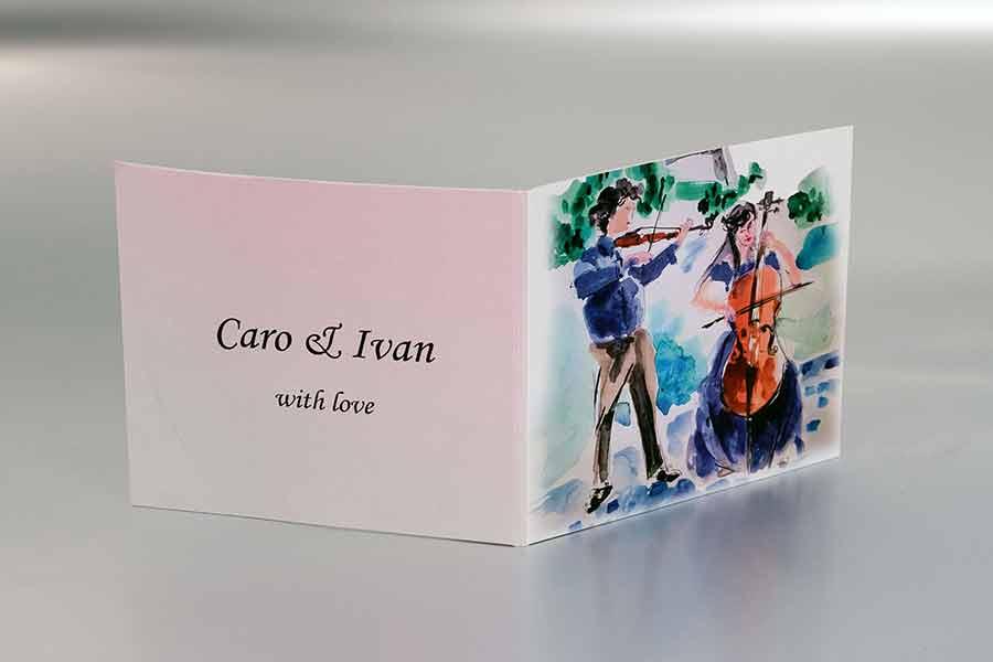 """Omot za cd Caro + Ivan  """"With love"""" (predna strana)"""
