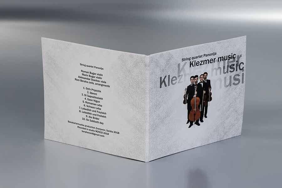 """Omot za cd String kvartet Panonija  """"Klezmermusic"""" (predna strana)"""