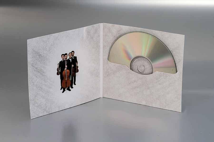 """Omot za cd String kvartet Panonija """"Klezmermusic"""" (unutrašnja strana)"""