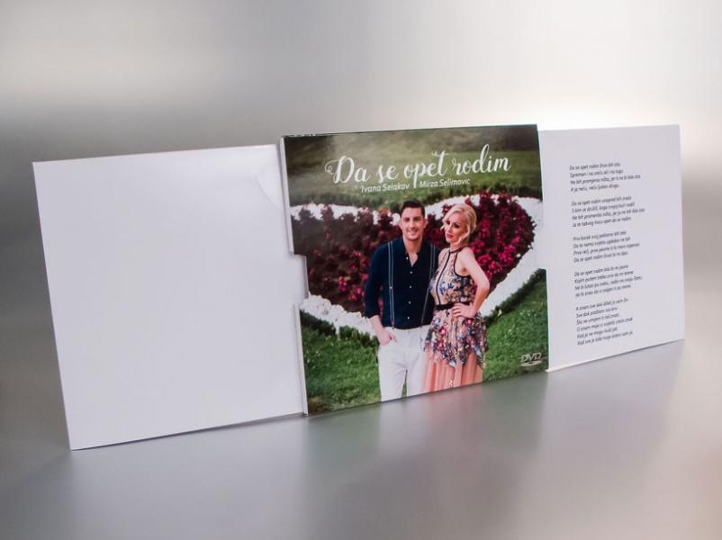 """Ivana Selakov & Mirza Selimović - omot za cd """"pull-out"""" (na izvlačenje, sa patentom, izvučena)"""