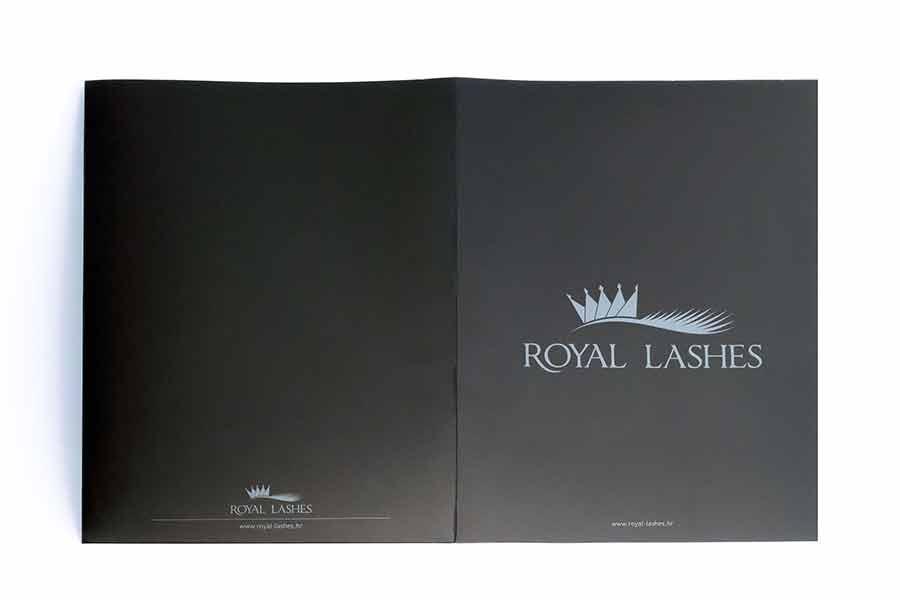 Fascikla sa dve klapne / Royal Lashes (rasklopljena)