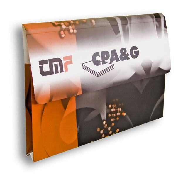 "promo fascikla / folder ""TMF"" (Tehnološko metalurški fakultet, katedra za celulozu, papir i grafiku - CPAG)"