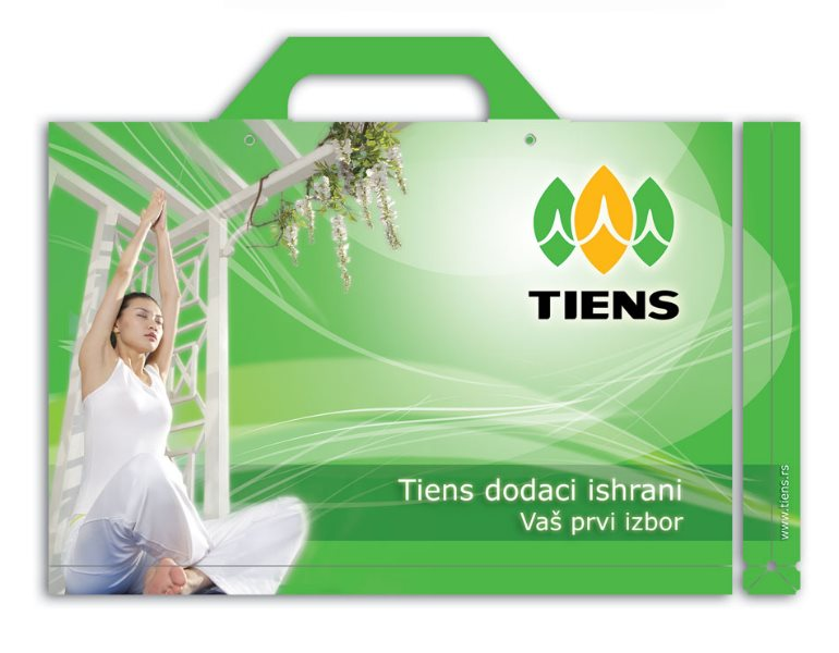 fascikla (folder sa ručkom) Tiens