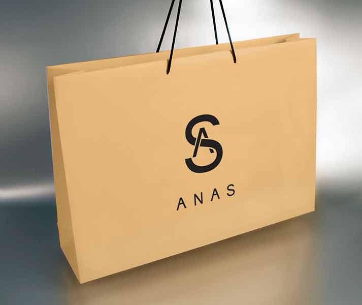 Idejno rešenje, etikete, nalepnice i luksuzne kese - Anas Atelier (3D)