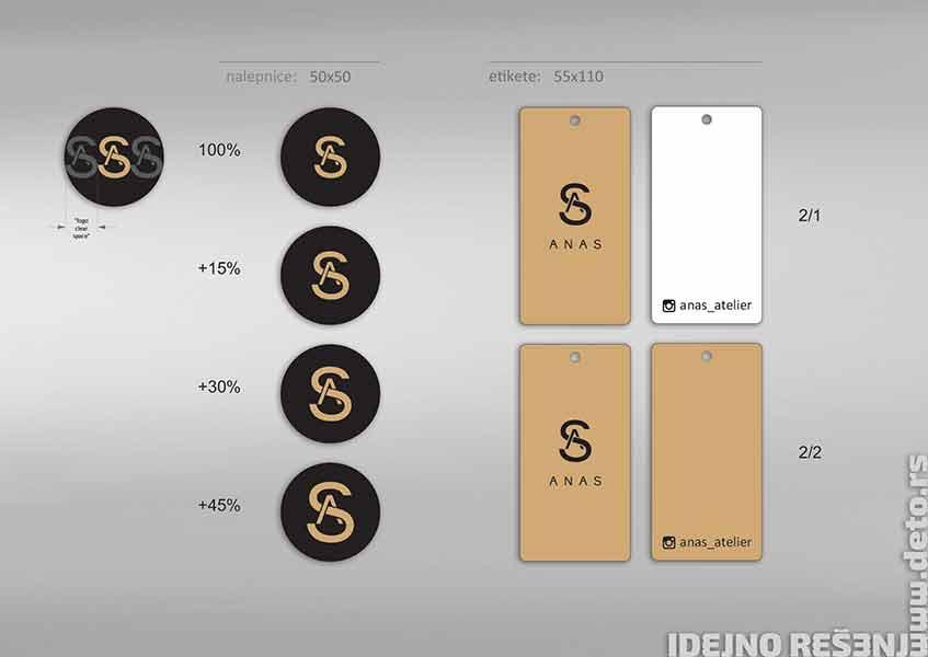 idejno rešenje, etikete i nalepnice / Anas Atelier