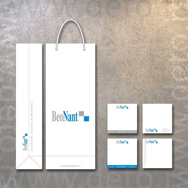 Beo Nant - idejno rešenje kese za piće i poklon kocki