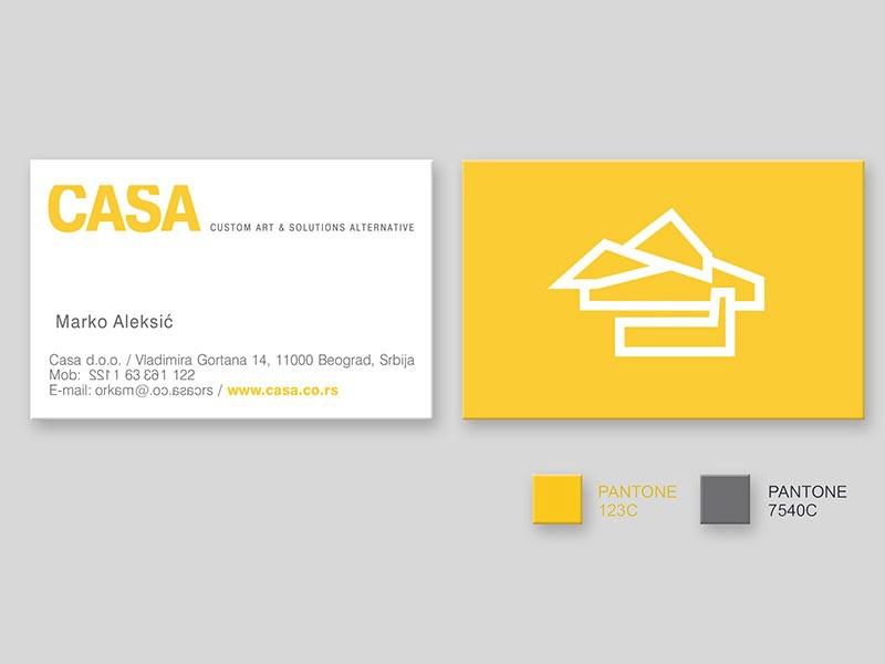 Vizit karte - CASA (idejno rešenje)