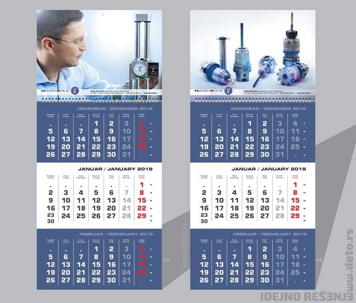 Poslovni kalendari za 2019. / v.5+v.6/ Hahn & Kolb