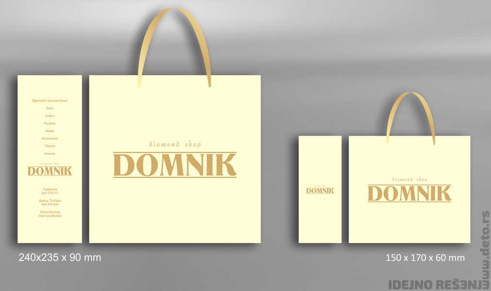 "Diamond Shop ""Domnik"" (Crna Gora) / luksuzne kese (dve veličine)"