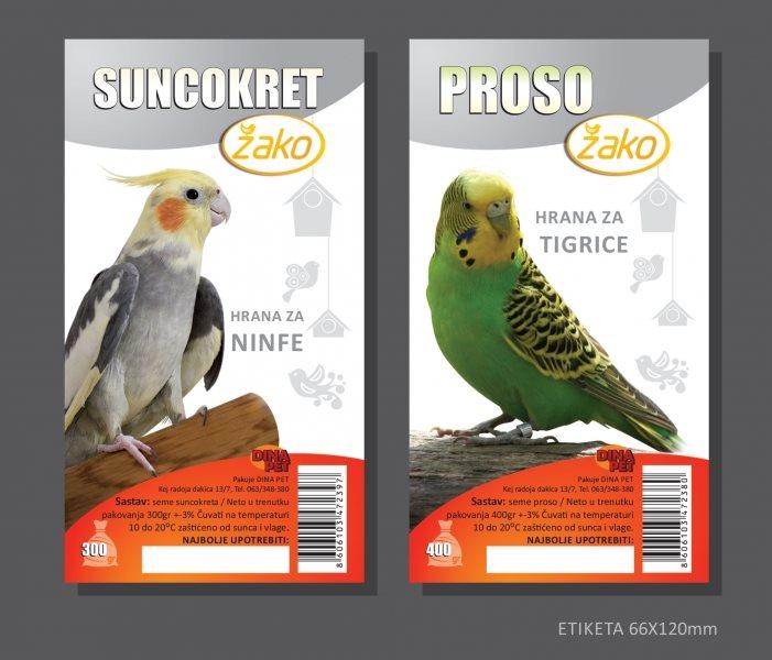 Etikete Žako-proso+SUNCOKRET