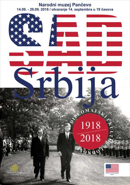 """Plakat 500x700mm """"USA/Srbija""""  (idejno rešenje) / Narodni muzej Pančevo"""