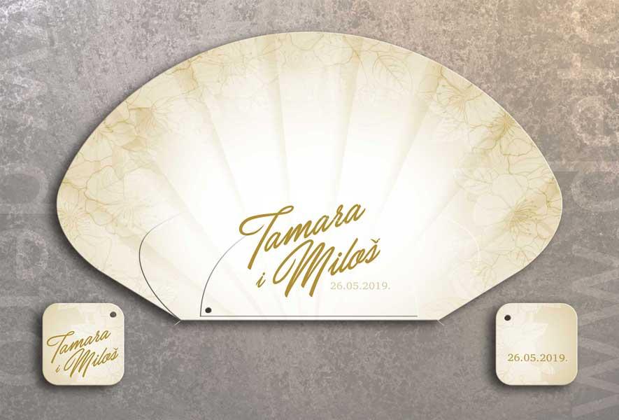 Tamara i Miloš / lepeze za venčanje