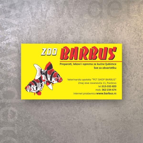 Barbus / vizt karte