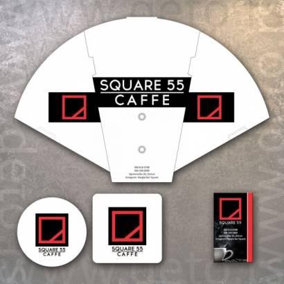 Square 55 Kafe / Sklopiva lepeza, podmetači, vizit karte