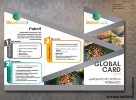 flajer sečen pod uglom / Global Card (spolja)