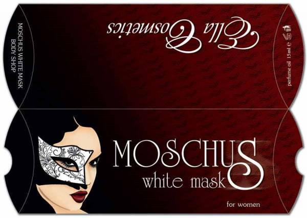 idejno resenje za pillow box - Moschus - White mask, klijent Ella Cosmetics