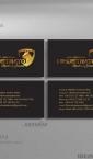 Vizit karte, kombinacija ofset + zlatotisak / Dimostrato (Nemačka)