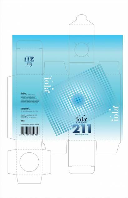 """idejno rešenje 1 kutija za parfeme """"Iola"""" - klijent Ček d.o.o. Zenica, BIH"""