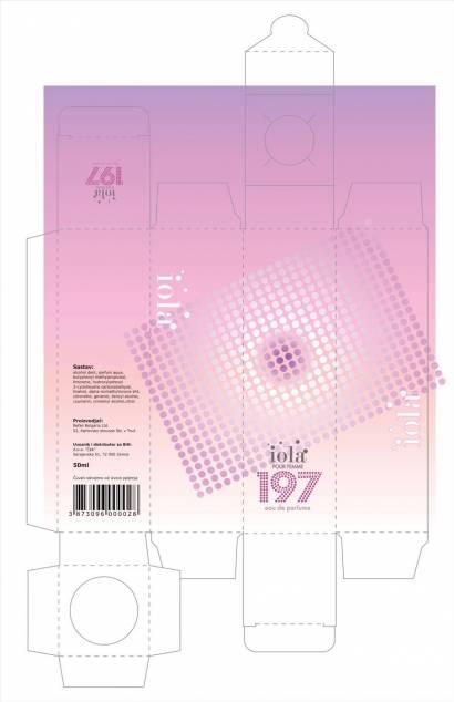 """idejno rešenje 2 kutija za parfeme """"Iola"""" - klijent Ček d.o.o. Zenica, BIH"""