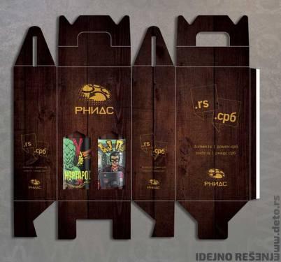 Kaširano poklon pakovanje za dve flaše piva / RNIDS (kolor)