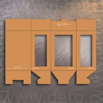 sofa - kutija sa tri prozora (idejno rešenje)