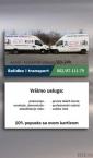Selidbe i transport / vizit karte