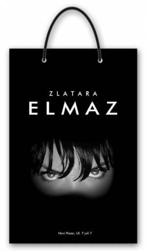 """idejno rešenje za dve vrste reklamih kesa - zlatara """"Elmaz"""", Novi Pazar"""