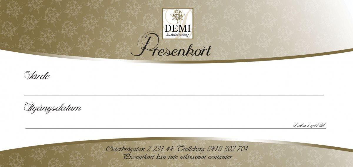 "Poklon vaučeri ""Demi"" (Švedska)"