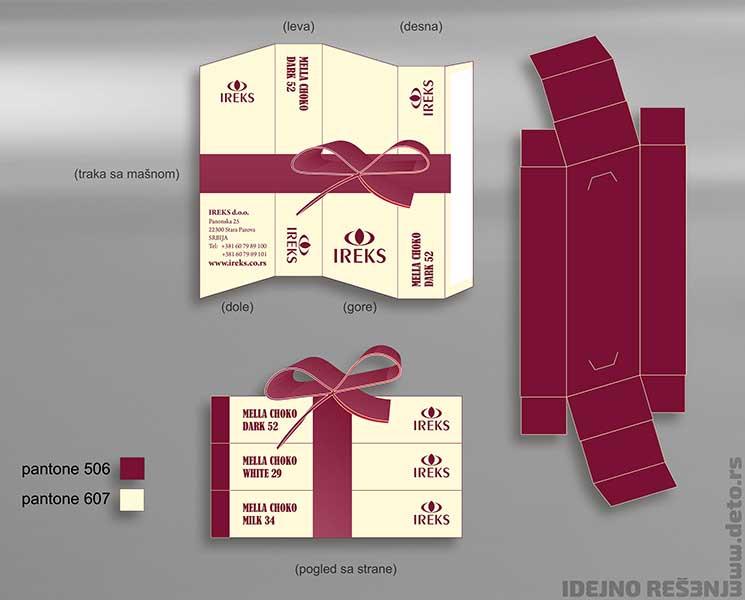 """Idejno rešenje """"Ireks"""" / poklon pakovanje (set od 3 kutijice)"""
