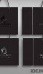 Reklamne kese model XP (crni ton + UV lak) / Darmara