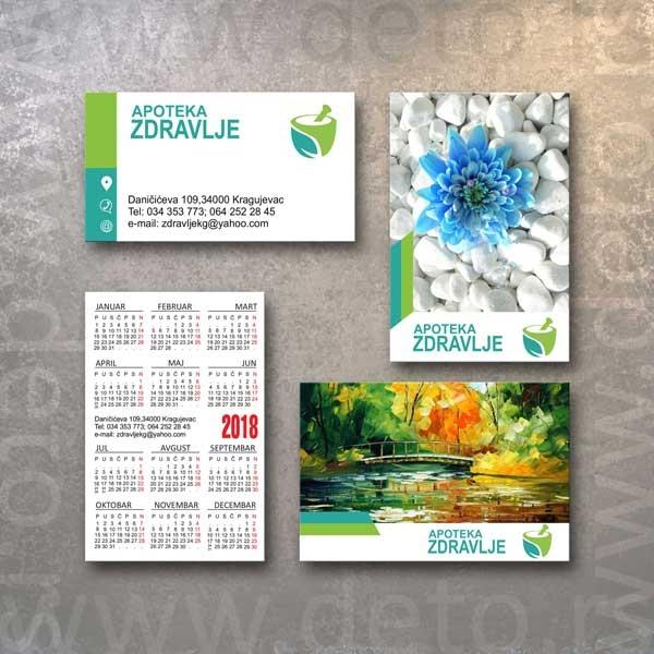Apoteka zdravlje kragujevac - dzepni kalendar + vk