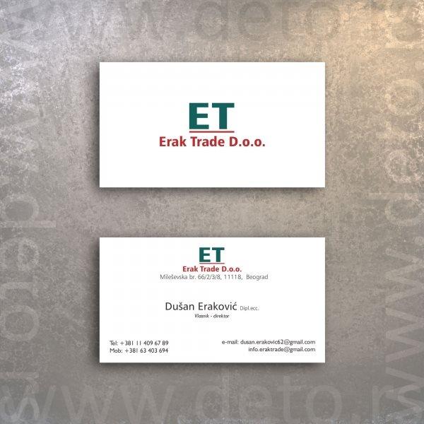 Erak Trade / Logo + vizit karte