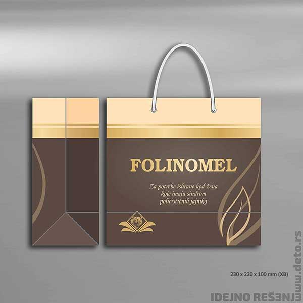 """Idejno rešenje """"Folinomel"""" / ekskluzivne reklamne kese"""