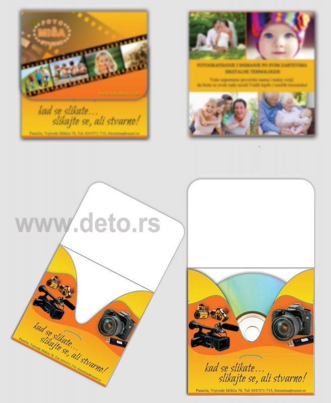 """Fotografska radnja """"Foto Miša"""", omot za CD, Štampa u koloru"""