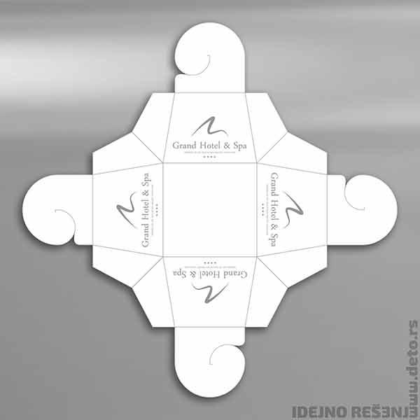 Idejno rešenje kutijice za praline (hotelski kompliment box) / Grand Hotel & Spa -2d