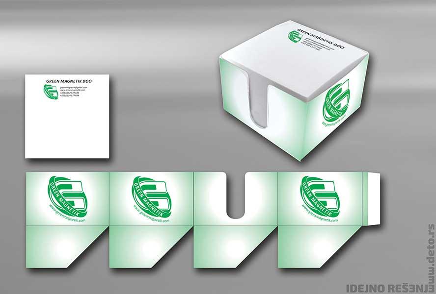 """Idejno rešenje """"Greenmagnetik"""" / poklon kocke"""
