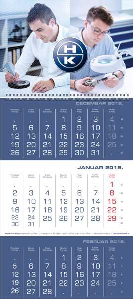 Poslovni kalendari za 2019. / v.3 / Hahn & Kolb