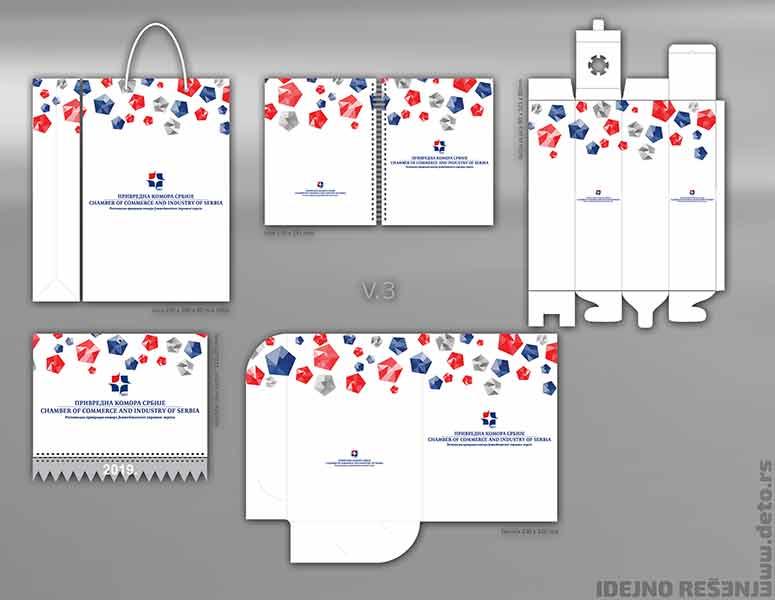 Idejno rešenje v3, fascikle, blokovi b5, reklamne kese i kalendari / Privredna Komora Srbije