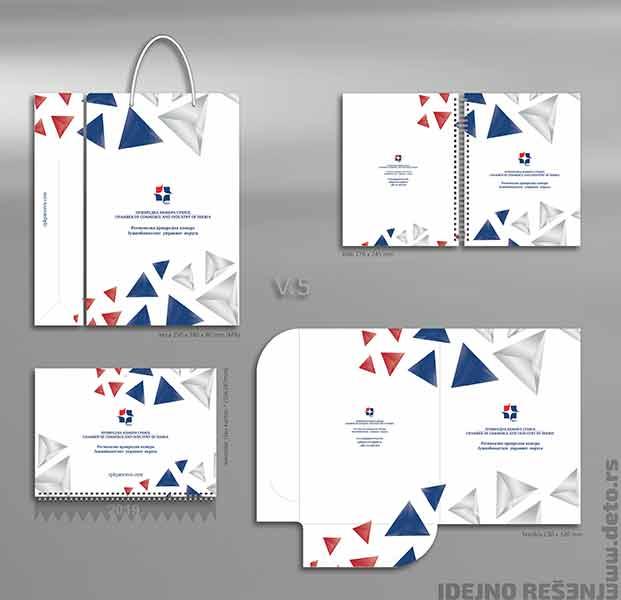 Idejno rešenje v5, fascikle, blokovi b5, reklamne kese i kalendari / Privredna Komora Srbije