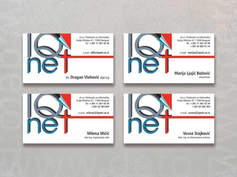 Iq Net - vizit karte (demo)
