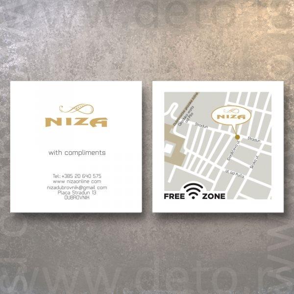Niza (Dubrovnik, Hrvatska) / Compliment kartice