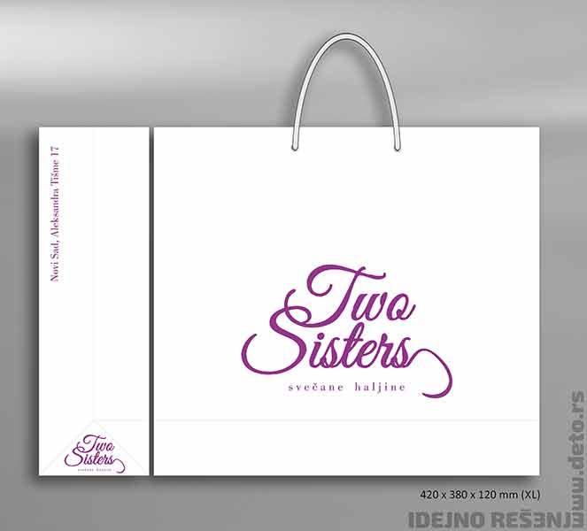 Idejno rešenje reklamne kese / Two Sisters