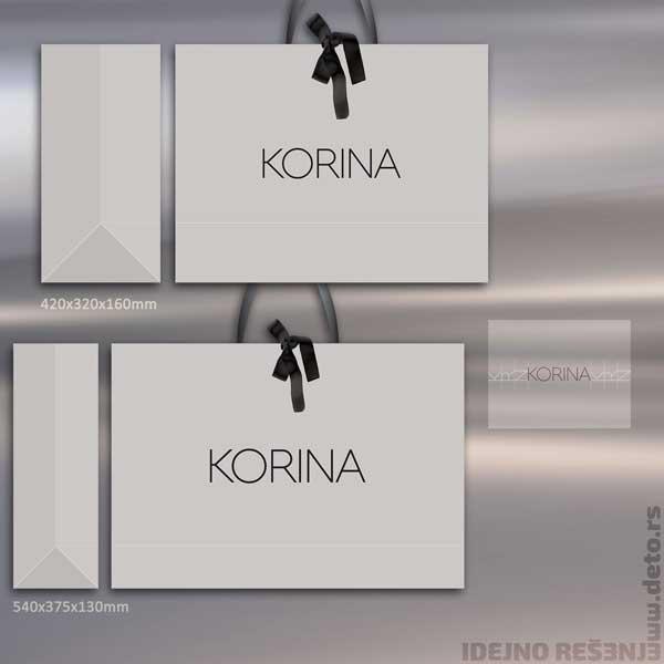 Korina / XXL +XL kesa sa satenskom mašnom (spolja)