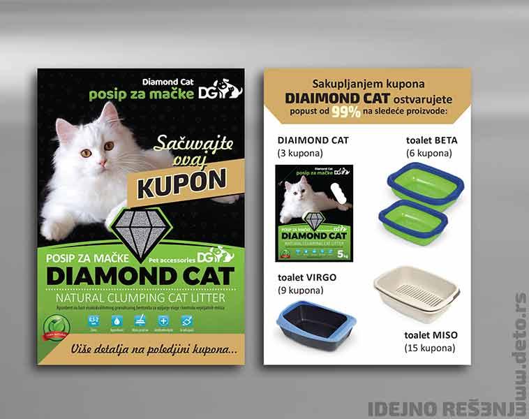 Idejno rešenje za etikete (poklon kupone) - Dinapet (Diamond Cat)