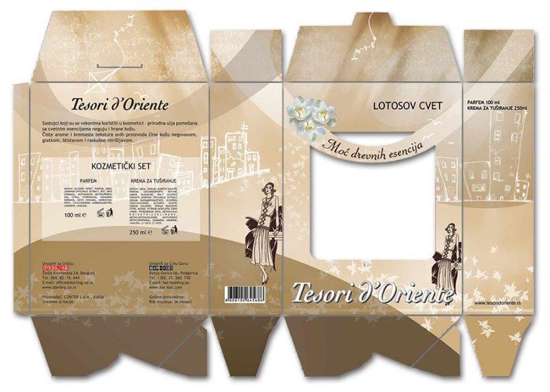 Kutije za setove, lotos / Bar Kod / Sterling / Crna Gora