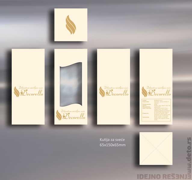 Decorello / kutija za ukrasne sveće sa prozorom