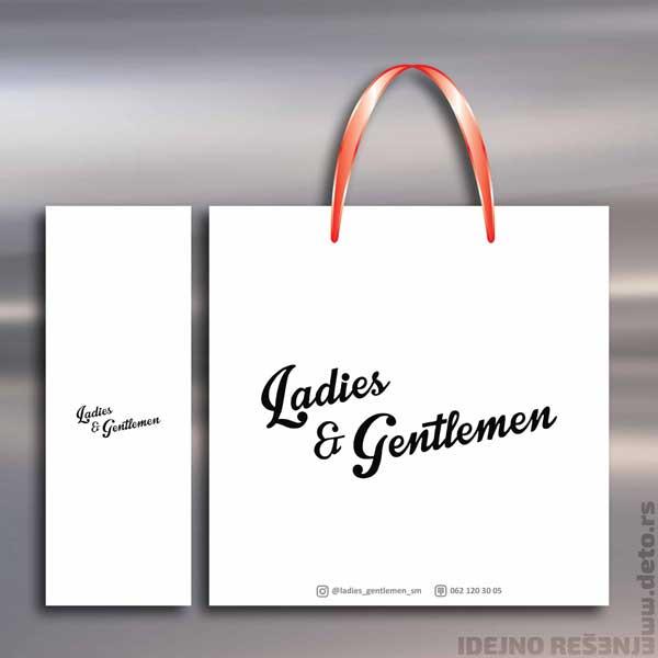 Ladies & Gentleman / Eko reklamne kese (beli natron)