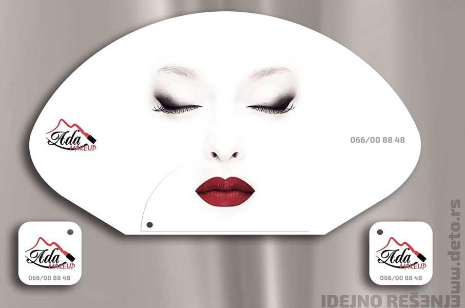 Ada Makeup / reklamne lepeze