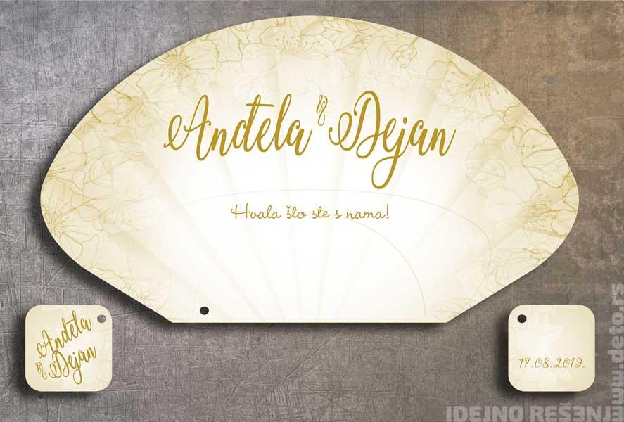 Anđela i Dejan  / lepeze za venčanje