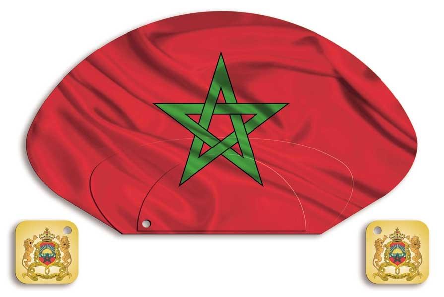 Ambasada Maroka - lepeze (prednja strana)
